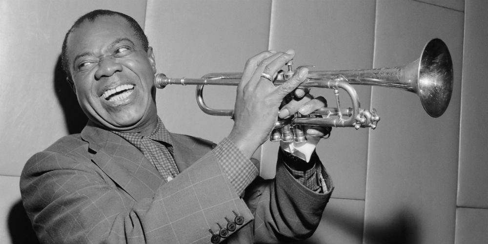 Louis Armstrong performing What a Wonderful world
