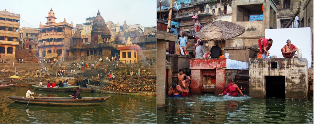 Funerals taking place on the River Ganges