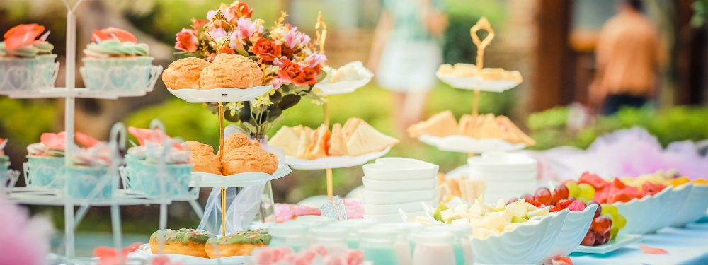 A buffet at a celebration of life funeral