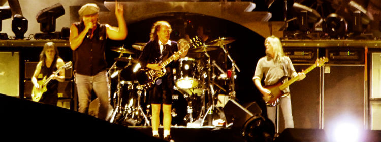 ACDC performing live