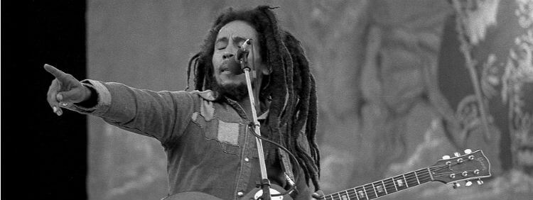 Bob Marley singing Three Little Birds