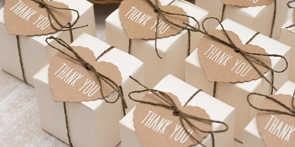 Wrapped gifts to give to people at a funeral